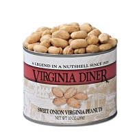 Virginia Diner Sweet Onion Peanuts 10 oz. Can