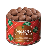 Season's Greetings Double Dipped Chocolate Peanuts 10 oz. - OUT OF STOCK