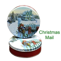 Christmas Mail Gift Tin with 4 Way Insert