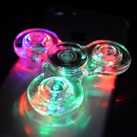 Clear Fidget Spinner with LED Lights