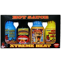 Travel Size Xtreme Hot Sauce Minis 4 Pack