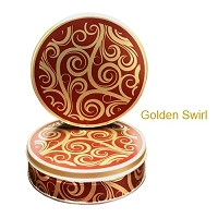 Golden Swirl Gift Tin with 4 Way Insert