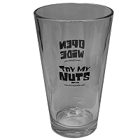 Try My Nuts Pint Glass