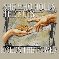 She Who Holds The Nuts T-Shirt