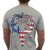USA Skull Country Life Tee