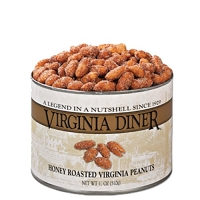 Virginia Diner Honey Roasted Peanuts 9 oz. Can