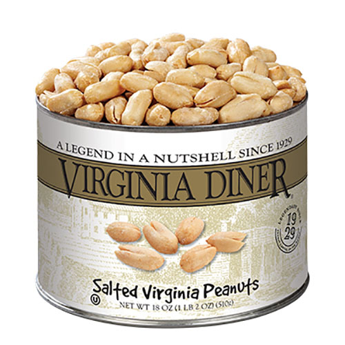 Virginia Diner Salted Peanuts 18 oz. Can