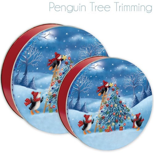 Penguin Gift Tin with 4 Way Insert