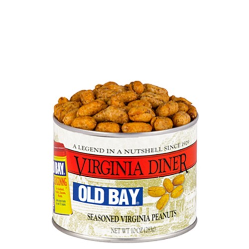 Virginia Diner Old Bay Peanuts 10 oz. Can