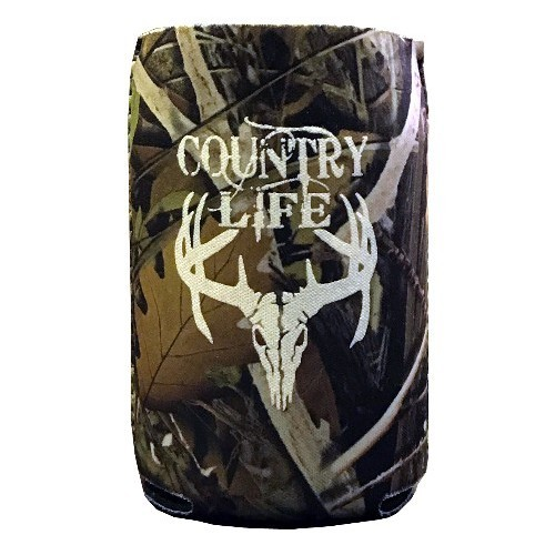 Country Life Foldable Camo Can Koozie