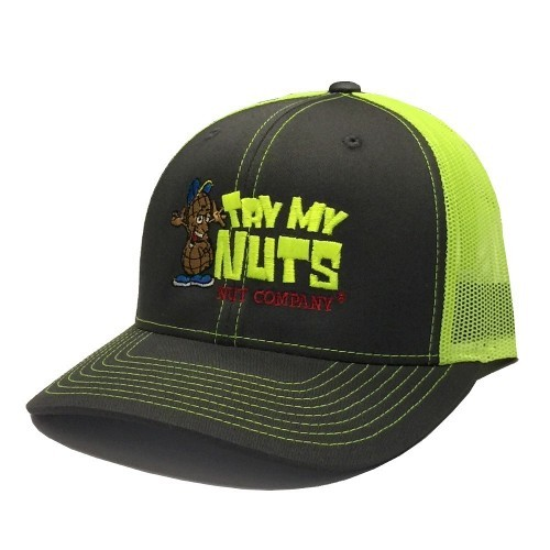 Neon Yellow Embroidered Trucker Hat