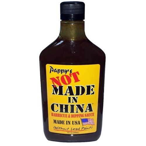 Pappy's Not Made In China Barbecue & Dipping Sauce Made In USA (Without Lead Paint)