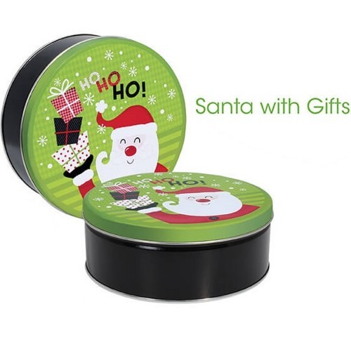 Santa with Gifts Gift Tin with 3 Way Insert